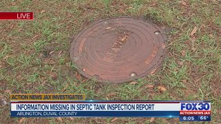 Information missing in septic tank inspection report