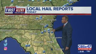 Severe weather brings hail, strong winds to Jacksonville area