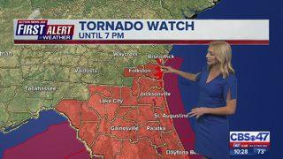 Jacksonville weather: Tornado Watch in effect for Northeast Florida