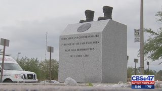 Monument for local slain soldier vandalized