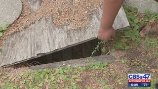 Neighbors worry kids could fall in hole outside Jacksonville park