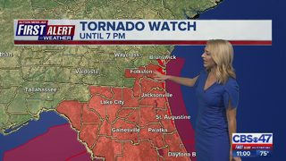Tornado Watch in effect for Northeast Florida