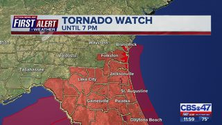 Tracking potential for tornadoes, strong wind in Jacksonville