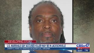 U.S. Marshals say accused killer may be in Jacksonville