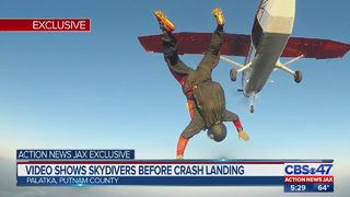 Partially-deployed parachutes cause skydivers to land off course in Palatka