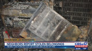 Jacksonville high-rise fire victims return home, report thefts
