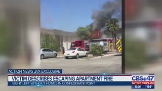 Victim describes escaping apartment fire