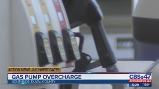 Gas pump overcharge