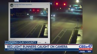 Red light runners caught on camera