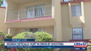 Woman critically hurt in drive-by shooting