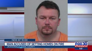 Man accused of setting homes on fire in Columbia County