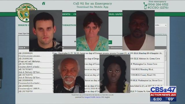 Clay County drug busts net more than a dozen arrests | WJAX-TV