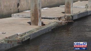 Boaters want Hurricane Matthew damage to dock at The Jacksonville Landing fixed