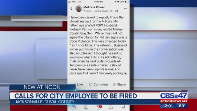 Veteran Military Flags Jaguar Power Sports Melinda Power: was not fined for flying military flags, Jacksonville officials say