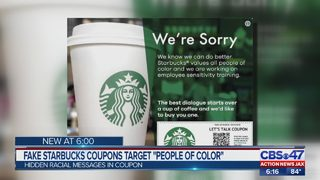 Starbucks locations on lookout for fake coupons targeting African-Americans, using N-word