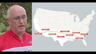Jacksonville man biking from California to Georgia to raise money for MS research