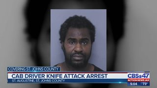 Customer accused of attacking cab driver in St. Augustine with box cutter