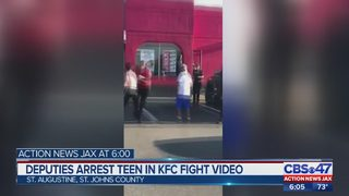 Deputies arrest teen in KFC fight video