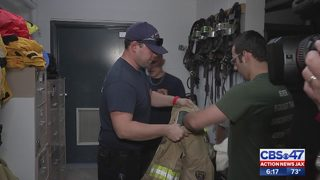 Stolen firefighter gear donation