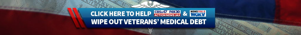 Click here to help Action News Jax and News 104.5 WOKV wipe out veterans' medical debt