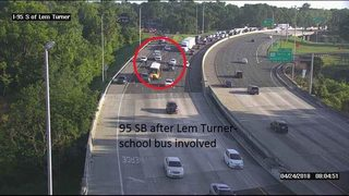Jacksonville traffic crash involving a school bus