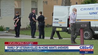 Family of veteran killed in home wants answers