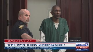 Suspect in 1974 cold case murder pleads guilty