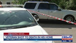 Veteran shot to death in his home