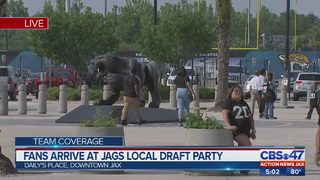 Fans prepare at Jags local draft party