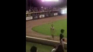 Video: Streaker tackled at Jacksonville Jumbo Shrimp game