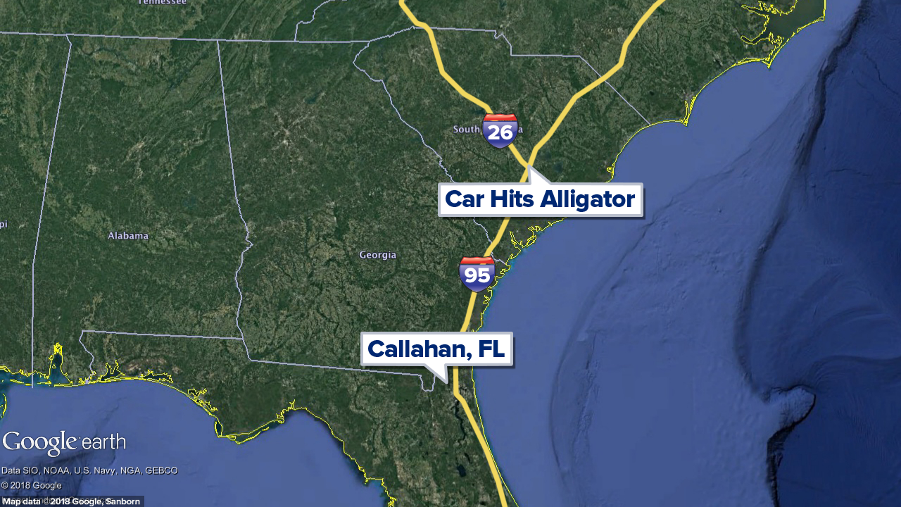 Map of Callahan and South Carolina crash