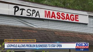 Action News Jax Investigates: Loophole keeps problem spa open