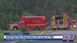 No one hurt in fire on Jacksonville