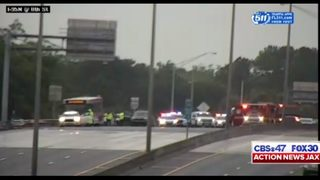 Jacksonville police responding to crash with injuries on I-95 at 8th Street