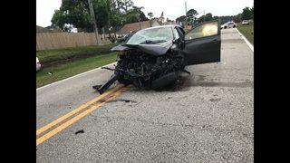 Two vehicle crash shutdowns portion of Jacksonville neighborhood road