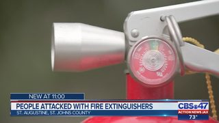 Teens spraying people with fire extinguishers in St. Augustine