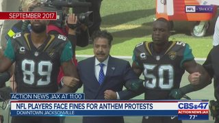 NFL players face fines for anthem protests