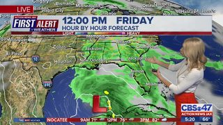 Tropical disturbance to bring large amount of rain for Memorial Day weekend