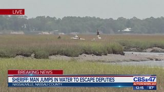 Man jumps in water to escape Nassau County deputies
