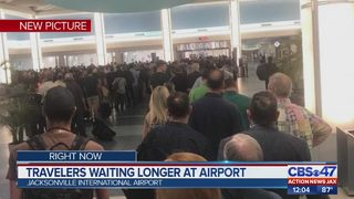 Travelers waiting in longer lines at airport