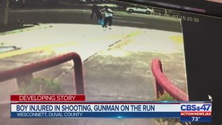Boy injured in shooting, gunman on the run