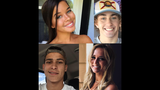 Isabella Garcia, 19, Cameron Bell, 18, Hayden Raulerson, 21, and Alysia Littlejohn, 20, were pronounced dead at the scene, according to FHP.
