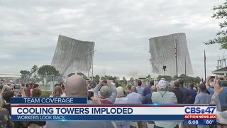 Cooling towers imploded