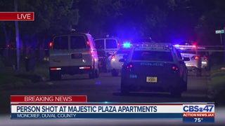 Person shot at Majestic Plaza Apartments