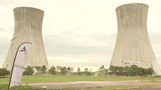Raw video: Jacksonville cooling towers implosion from ground level