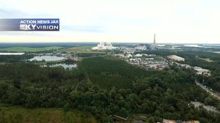 Raw video: Jacksonville cooling towers implosion as seen from Action News Jax Skyvision drone