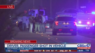 Driver, passenger shot in vehicle