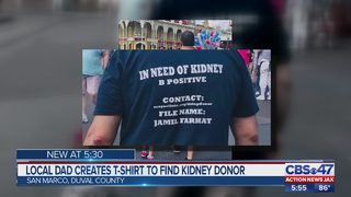Local dad creates t-shirt to find kidney donor