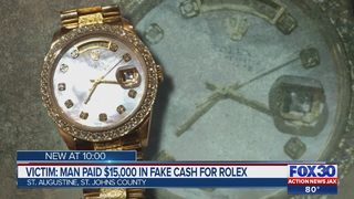 Victim: Man Paid $15,000 in Fake Cash for Rolex