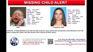 Florida Missing Child Alert issued for 3-week-old boy from Gainesville